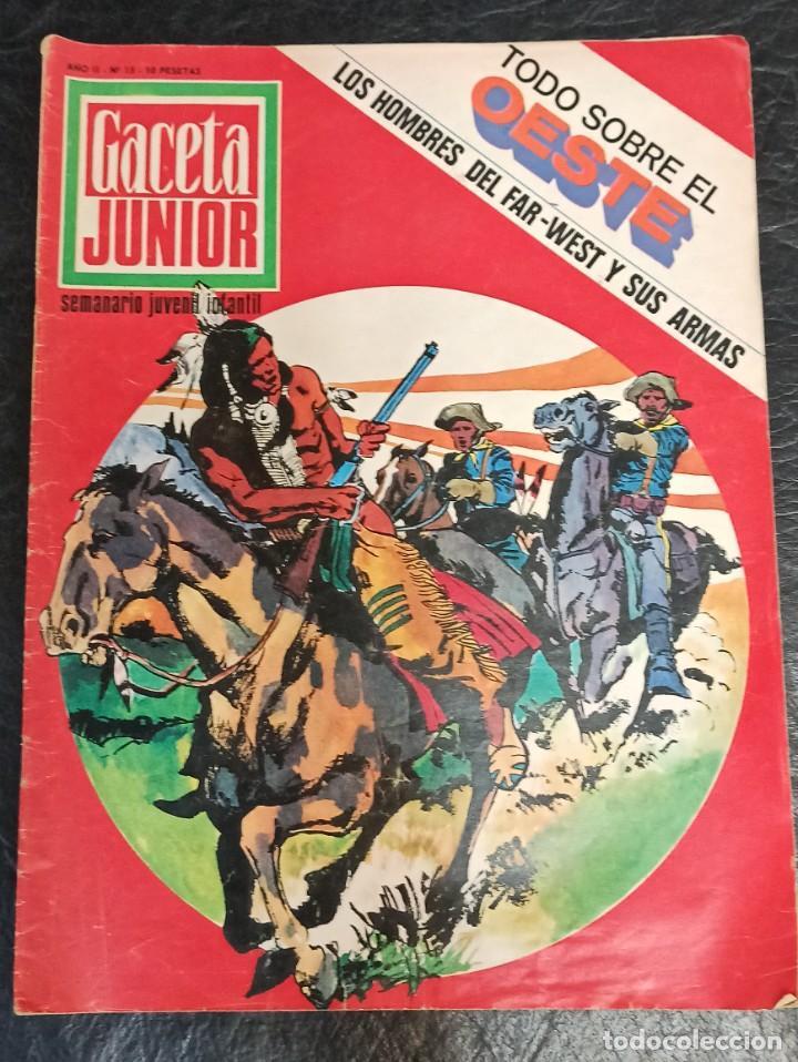 GACETA JUNIOR. TODO SOBRE EL OESTE. N° 15. 1968 (Tebeos y Comics - Suplementos de Prensa)