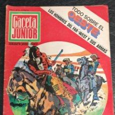 Cómics: GACETA JUNIOR. TODO SOBRE EL OESTE. N° 15. 1968. Lote 265703249