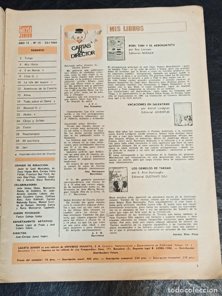 Cómics: Gaceta junior. Todo sobre el oeste. N° 15. 1968 - Foto 2 - 265703249