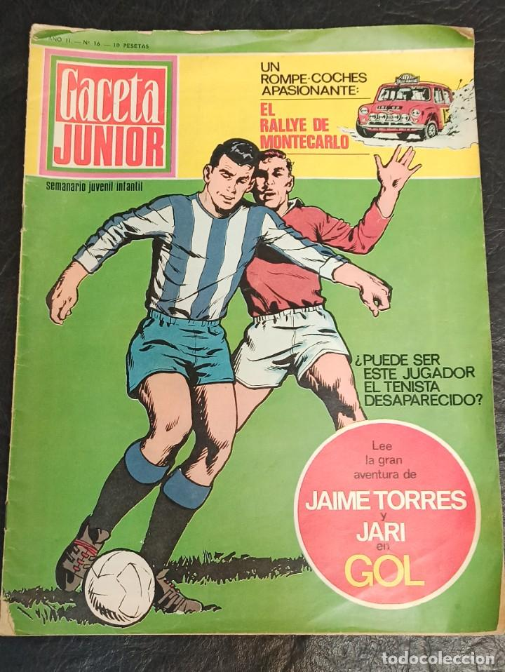 GACETA JUNIOR. GOL. N° 16. 1969 (Tebeos y Comics - Suplementos de Prensa)