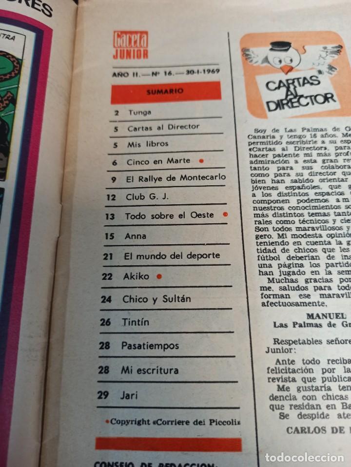 Cómics: Gaceta junior. Gol. N° 16. 1969 - Foto 3 - 265703899