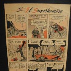 Cómics: EL SUPERHOMBRE - HOJA DE SUPERMAN DE REVISTA ARGENTINA AÑO 1944. Lote 276661698