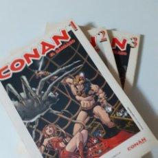 Cómics: CONAN EL BÁRBARO - TOMOS DEL 1 AL 3 (VER FOTOS). Lote 284538533