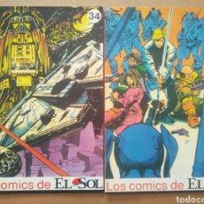 Cómics: LOS CÓMICS DE EL SOL N°34-35: STAR WARS, POR GOODWIN Y GOLDEN (1990). CON CENTAURO E INSPECTOR O'JAL. Lote 295589218