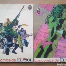 Cómics: LOS CÓMICS DE EL SOL N°24-25: G.I.JOE (1990). CON HULKA, GASTÓN, CAB HALLOLOCO Y 3 CORAZONES.. Lote 295589693