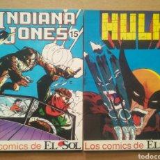 Fumetti: LOS CÓMICS DE EL SOL N°15-16: INDIANA JONES, POR MICHELINIE Y CHAYKIN (1990). CON HULK, GASTÓN.... Lote 295589968