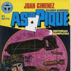 Cómics: JUAN GIMENEZ - AS DE PIQUE Nº 5 - TOUTAIN 1988. Lote 218812493