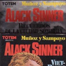 Cómics: ALACK SINNER - DOS TOMOS DE TOTEM BIBLIOTECA / AUTORES : MUÑOZ / & SAMPAYO. Lote 26509260