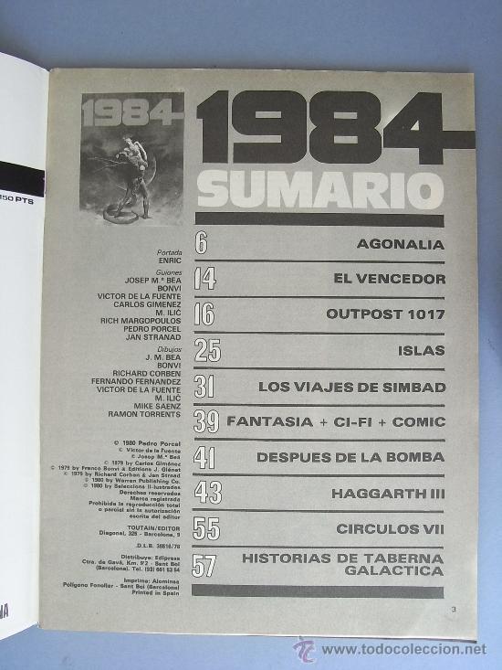 Cómics: 1984 NÚMERO 19, TOUTAIN EDITOR. - Foto 3 - 25552825