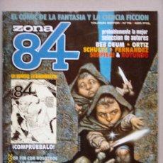 Cómics: ZONA 84- EL COMIC DE LA FANTASÍA Y LA CIENCIA FICCIÓN. Lote 27252456