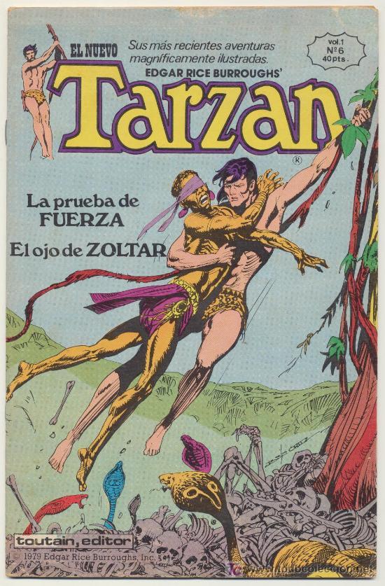 EL NUEVO TARZÁN VOL. 1 Nº 6. TOUTAIN 1979. (Tebeos y Comics - Toutain - Otros)