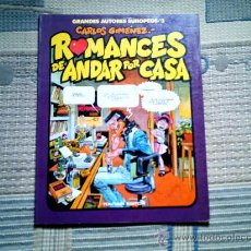 Cómics: ROMANCES DE ANDAR POR CASA DE CARLOS GIMENEZ (COL. AUTORES EUROPEOS Nº 3). Lote 28400651
