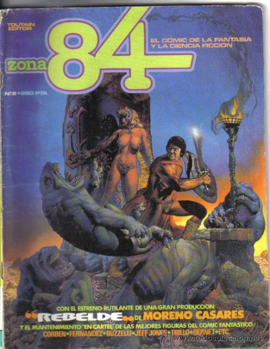ZONA 84 Nº 8. LITERACOMIC. (Tebeos y Comics - Toutain - Zona 84)