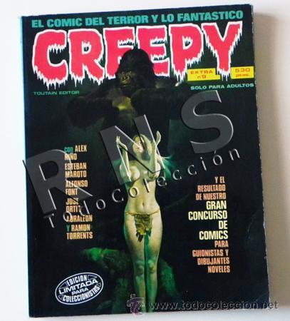 CREEPY EXTRA 9 LOTE 3 COMICS 42 43 44 - PARA ADULTOS TERROR MIEDO - CÓMIC TOUTAIN -CON PORTADAS (Tebeos y Comics - Toutain - Creepy)