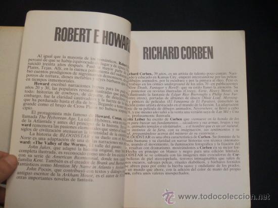Cómics: BLOODSTAR - RICHARD CORBEN - ROBERT E. HOWARD - TOUTAIN EDITOR - - Foto 4 - 30403897