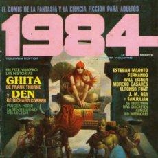 Cómics: 1984 - COMIC TOUTAIN - Nº 34 - RICHARD CORBEN, FRANK THORNE, WILL EISNER, ESTEBAN MAROTO, FONT, BEA. Lote 31555028