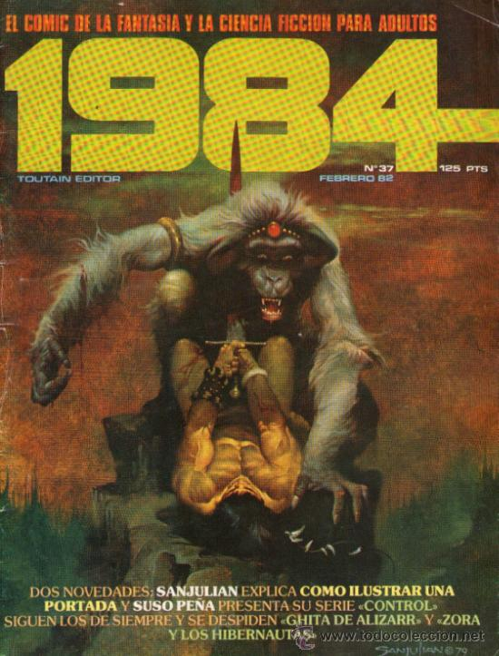 1984 - COMIC TOUTAIN - Nº 37 - RICHARD CORBEN, FRANK THORNE, ALFONSO FONT, ESTEBAN MAROTO, J. M. BEA (Tebeos y Comics - Toutain - 1984)
