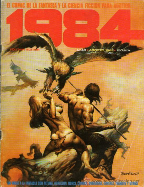 1984 - COMIC TOUTAIN - Nº 43 - RICHARD CORBEN, FRANK THORNE, JUAN GIMÉNEZ, ESTEBAN MAROTO, ALTUNA (Tebeos y Comics - Toutain - 1984)