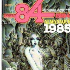 Cómics: ZONA 84, ALMANAQUE 1985, TOUTAIN, 12 EXITANTES HISTORIAS DE CIENCIA FICCIÍN ILUSTRADAS. Lote 31704196