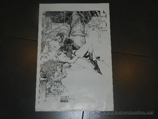 (M) POSTER 1984 VAMPIRELLA POSTER OBSEQUIO DE LA REVISTA - 54 X 36 CM, CON ROTURITAS (Tebeos y Comics - Toutain - 1984)