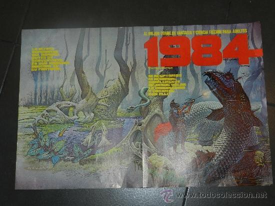 Cómics: (M) POSTER 1984 VAMPIRELLA POSTER OBSEQUIO DE LA REVISTA - 54 X 36 CM, CON ROTURITAS - Foto 2 - 32058499