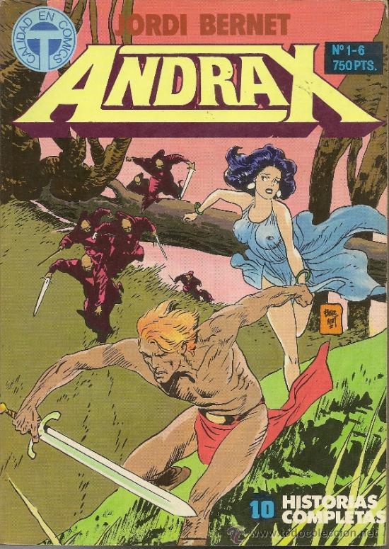 ANDRAX . JORDI BERNET. 2 RETAPADOS CON LOS NUMEROS 01 AL 12. SERIE COMPLETA (Tebeos y Comics - Toutain - Obras Completas)