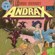 Cómics: ANDRAX . JORDI BERNET. 2 RETAPADOS CON LOS NUMEROS 01 AL 12. SERIE COMPLETA . Lote 33392526