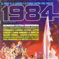 Cómics: REVISTA 1984. NUMERO 64 EXTRA DE DESPEDIDA. FERNANDEZ, CORBEN, ALTUNA, AZPIRI, CARLOS Y JUAN GIMENEZ. Lote 93040725