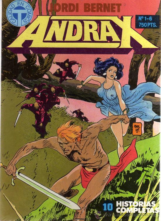 ANDRAX: COLECCIÓN COMPLETA 12 NÚMEROS EN 2 RETAPADOS (TOUTAIN EDITOR) - CJ138 (Tebeos y Comics - Toutain - Obras Completas)