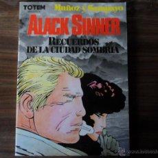 Comics : ALACK SINNER -RECUERDOS DE LA CIUDAD SOMBRIA - TOTEM BIBLIOTECA Nº 23- 1ª EDICION 1983. Lote 40663639