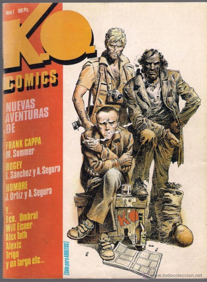 K.O. COMICS. NÚMEROS 1,2,3 Y 4. COLECCIÓN COMPLETA. 1983 TOUTAIN. (Tebeos y Comics - Toutain - Otros)