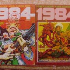 Cómics: 1984, 2 COMICS, NÚMEROS 52 Y 61, TOUTAIN EDITOR, RAFA NEGRETE, 1983, FANTASÍA Y CIFI PARA ADULTOS. Lote 42283296