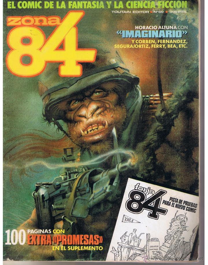 ZONA 84. Nº 59. 100 PÁGINAS CON EXTRA PROMESAS EN EL SUPLEMENTO. TOUTAIN (ST) (Tebeos y Comics - Toutain - Zona 84)