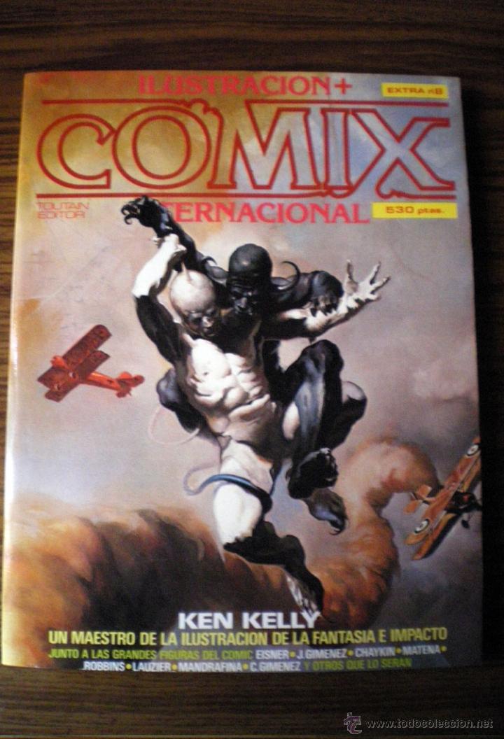 COMIX 27-28-29 TOUTAIN EXTRA 8 + ILUSTRACION PACHECO-EISNER-CHAYKIN-MANDRAFINA-ROBBINS-MATENA (Tebeos y Comics - Toutain - Comix Internacional)
