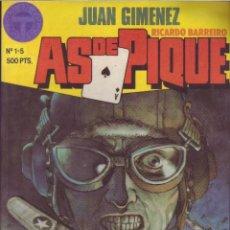 Comics : AS DE PIQUE Nº 1-5 (RETAPADO) JUAN GIMENEZ Y RICARDO BARREIRO ED. TOUTAIN. Lote 89814014