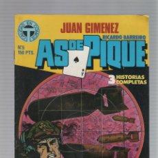 Cómics: AS DE PIQUE Nº 05 - JUAN GIMENEZ - RICARDO BARREIRO - TOUTAIN EDITOR - 1988. Lote 46742941