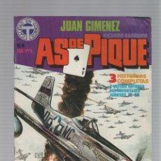 Cómics: AS DE PIQUE Nº 04 - JUAN GIMENEZ - RICARDO BARREIRO - TOUTAIN EDITOR - 1988. Lote 46742957