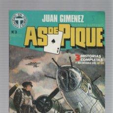 Cómics: AS DE PIQUE Nº 03 - JUAN GIMENEZ - RICARDO BARREIRO - TOUTAIN EDITOR - 1988. Lote 46742967