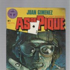 Cómics: AS DE PIQUE Nº 01 - JUAN GIMENEZ - RICARDO BARREIRO - TOUTAIN EDITOR - 1988. Lote 46743019