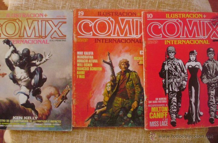 COMIX INTERNACIONAL, ILUSTRACIÓN +, TOUTAIN EDITOR, NÚMEROS 10, 19 Y 29, AÑOS 1981, 1982 Y 1983 (Tebeos y Comics - Toutain - Comix Internacional)