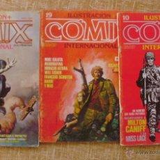Cómics: COMIX INTERNACIONAL, ILUSTRACIÓN +, TOUTAIN EDITOR, NÚMEROS 10, 19 Y 29, AÑOS 1981, 1982 Y 1983. Lote 47016550