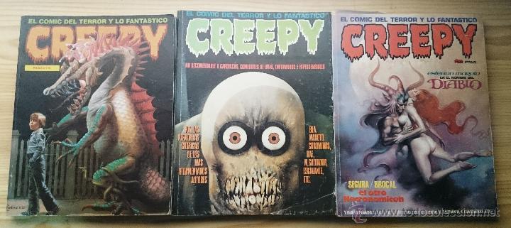 CREEPY LOTE DE 3 TOMOS RETAPADOS (Tebeos y Comics - Toutain - Creepy)