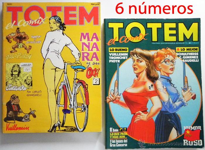 TÓTEM EL CÓMIX - LOTE DE 2 RETAPADOS ( 6 CÓMICS ) - CÓMIC PARA ADULTOS - TOUTAIN - 43 44 45 58 59 60 (Tebeos y Comics - Toutain - Otros)