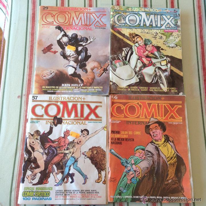 COMIX INTERNACIONAL REVISTAS AÑOS 80 COMIC 4 EJEMPLARES COLECCION SEXO ADULTOS (Tebeos y Comics - Toutain - Comix Internacional)