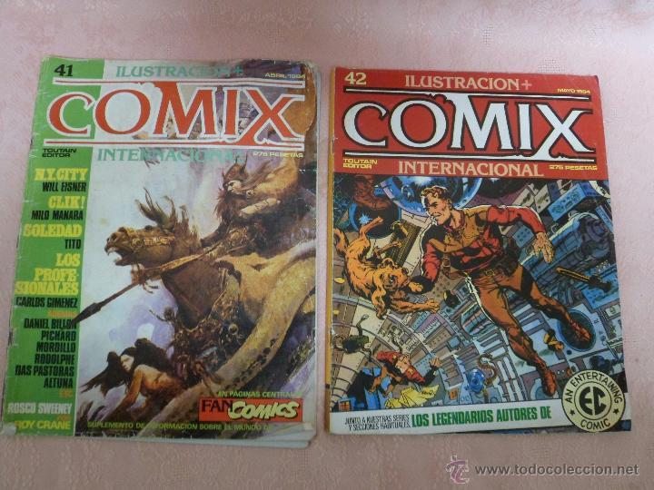 COMIX INTERNACIONAL LOTE DE 2 REVISTAS NÚMEROS 41 Y 42 (Tebeos y Comics - Toutain - Comix Internacional)