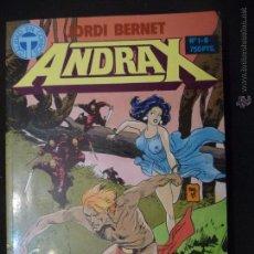 Cómics: ANDRAX. TOMO 1 AL 6. JORDI BERNET. TOUTAIN. Lote 49967200