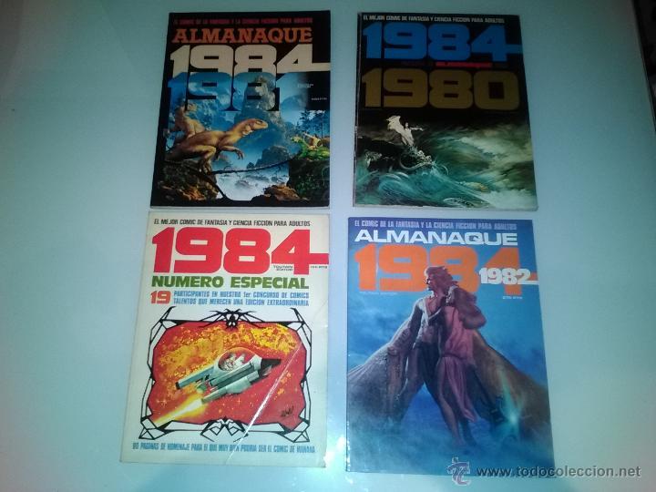 4 COMICS 1984 - ALMANAQUES Y NUMERO ESPECIAL (Tebeos y Comics - Toutain - 1984)
