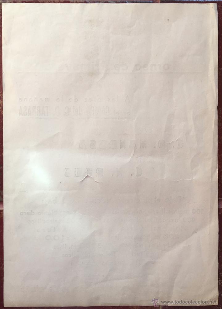 Cómics: CARTEL PUBLICIDAD ATLETISMO 1946 TORNEO CN BARCELONA MANRESA LUISES GRACIA REUS TERRASSA TARRASA (6, - Foto 2 - 52856210