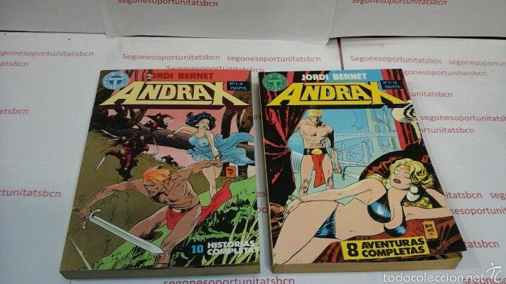 LOTE COMPLETO - ANDRAX - 2 TOMOS - N°1 AL 12 - TOUTAIN 1988 (Tebeos y Comics - Toutain - Obras Completas)