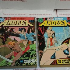 Cómics: LOTE COMPLETO - ANDRAX - 2 TOMOS - N°1 AL 12 - TOUTAIN 1988. Lote 53410329
